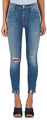 J Brand Women's Alana High-Rise Crop Distressed Jeans $230 thestylecure.com