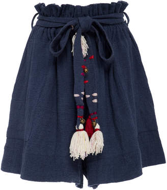 Bohemia Alix of Limited Edition Cole Shorts in Indigo with Tassel Belt