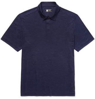 Z Zegna Mélange Techmerino Wool And Linen-Blend Polo Shirt