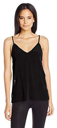 Dolce Vita Women's Washed Silk Solid Bo Cami Tank Top