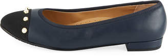 Neiman Marcus Unelma Cap-Toe Ballet Flats, Blue