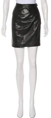 Chanel Leather Mini Skirt Black Leather Mini Skirt