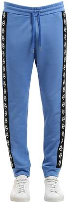 Love Moschino Logo Side Bands Cotton Blend Sweatpants