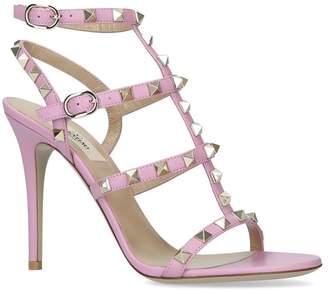 Valentino Leather Rockstud Sandals 105
