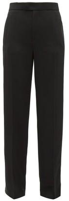 Joseph Ferry Wide Leg Tuxedo Twill Trousers - Womens - Black