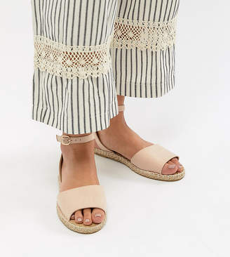 Truffle Collection Wide Fit Espadrille Flat Sandals