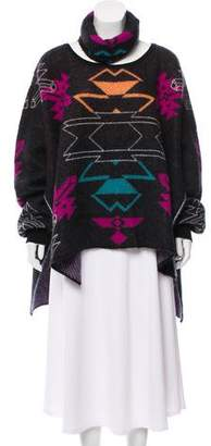 Marcelo Burlon County of Milan Gaea Mohair-Blend Sweater