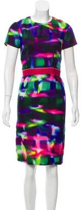 Peter Som Abstract Patterned Knee-Length Dress