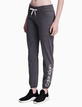 Calvin Klein slim fit drawstring flecked sweatpants