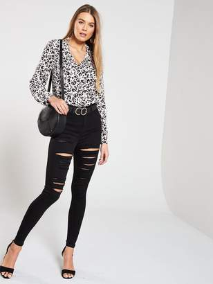 3b11133442204a Womens Longline Blouse - ShopStyle UK
