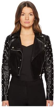 Versace Pearl Moto Crop Jacket Women's Jacket