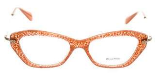 Miu Miu Glitter Cat-Eye Eyeglasses