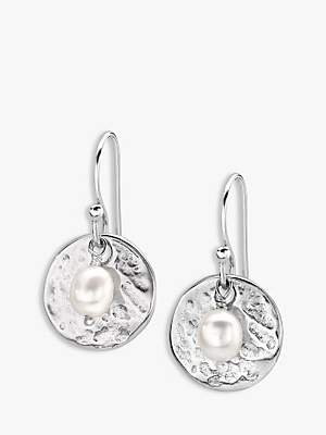 Dower & Hall Sterling Silver Pearlicious Round Drop Earrings