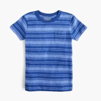 J.Crew Boys' striped pocket T-shirt in slub cotton