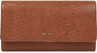 Nine West Embossed Continental Wallet