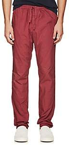Tomas Maier MEN'S COTTON POPLIN PANTS-MD. RED SIZE L