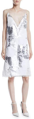 Calvin Klein Andy Warhol Metallic Digital-Print Cami Dress