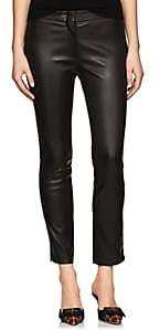 Derek Lam Women's Drake Leather Crop Pants - Black