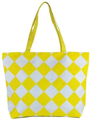 Condura Diamond Check Canvas Bag