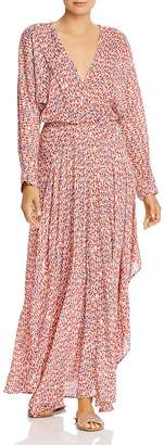 Poupette St Barth Ilona Flounced Faux-Wrap Maxi Dress