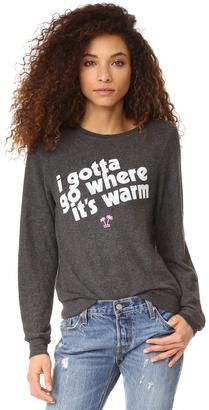 Wildfox 75 & Sunny Sweatshirt $98 thestylecure.com