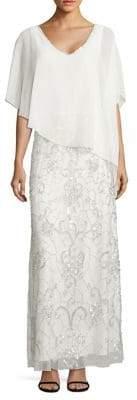 J Kara Popover Sequin Gown