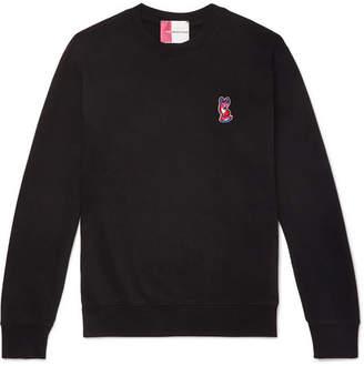 MAISON KITSUNÉ Logo-Appliquéd Loopback Cotton-Jersey Sweatshirt