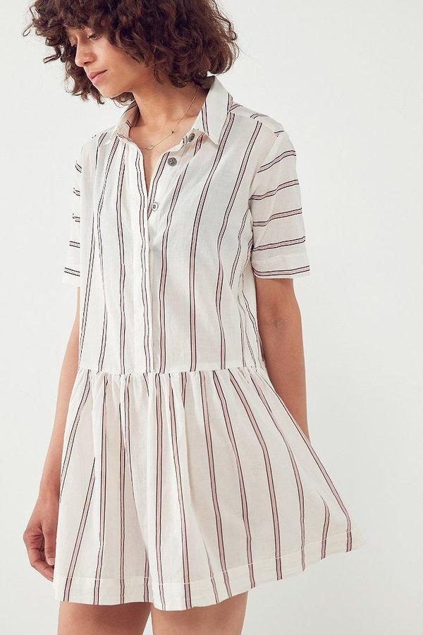 BDG Kennedy Striped Drop-Waist Mini Dress