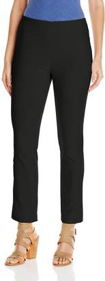 Haggar Women's Pull-On Slim Leg Stretch Ankle Pant
