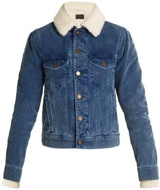 Saint Laurent Shearling-lined cotton-corduroy jacket