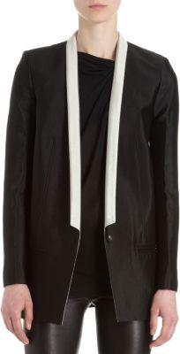 Helmut Lang Contrast Thin Lapel One-Button Jacket