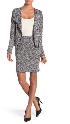 Blanc Noir Marled Knit Skirt