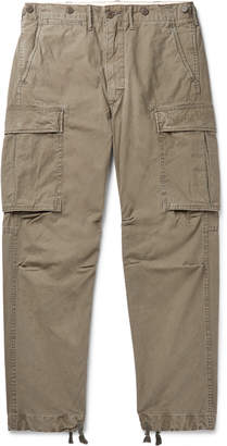 Ralph Lauren RRL Slim-Fit Tapered Washed-Cotton Cargo Trousers - Men - Green