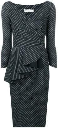 Chiara Boni Le Petite Robe Di striped ruffle front dress