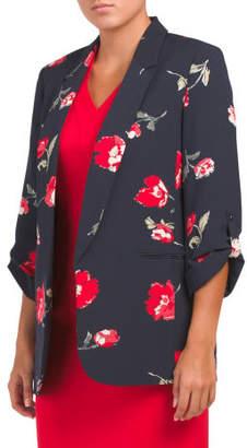 Floral Crepe Oversized Jacket