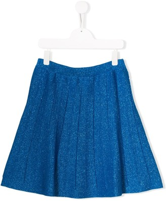 Alberta Ferretti Kids TEEN sparkly pleated skirt