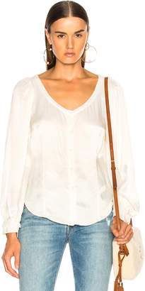 Raquel Allegra Gathered Sleeve Blouse