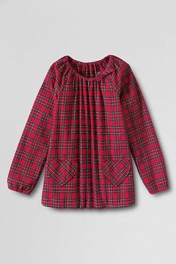 Lands' End Girls' Flannel Ellie Shirt