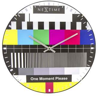 Nextime Colour Pop Test Page Wall Clock