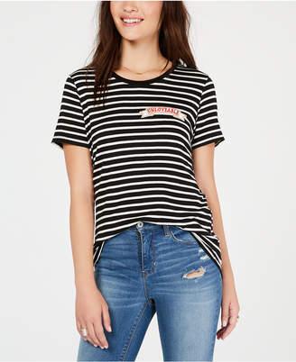 Carbon Copy Striped Patch T-Shirt