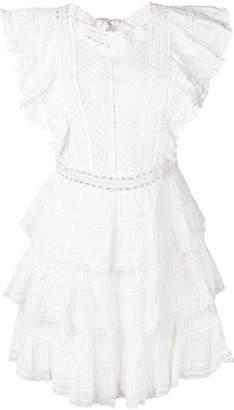 Zimmermann tiered ruffle mini dress