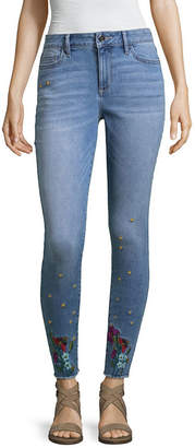 A.N.A Skinny Fit Embroidered Ankle Jegging