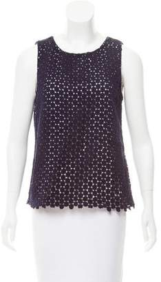 Karl Lagerfeld Crochet Sleeveless Top