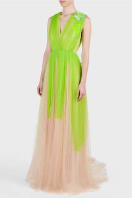 DELPOZO V-Neck Gown
