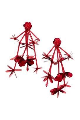 H&M Long Earrings - Red - Women