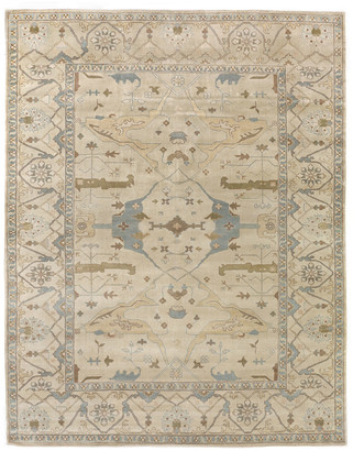 Exquisite Rugs Antique Weave Oushak Hand-Knotted Wool Traditional Rug