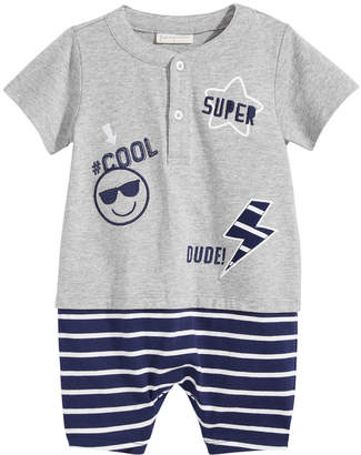 First Impressions Layered-Look Cotton Romper, Baby Boys, Created for Macy's