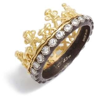 Armenta Old World Diamond Crown Ring