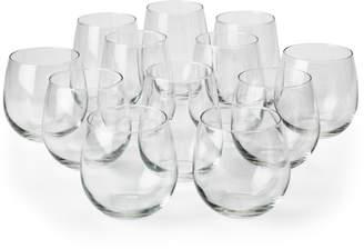 Libbey Set of 12 Vina Stemless Wine Glasses