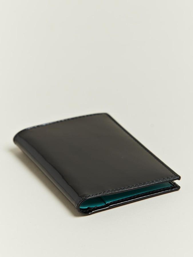 Comme des Garcons Unisex Patent Black Card Holder